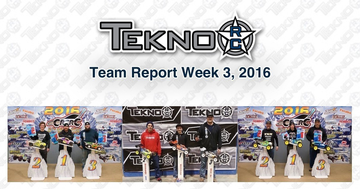 Tekno RC Team Report Week 3 2016