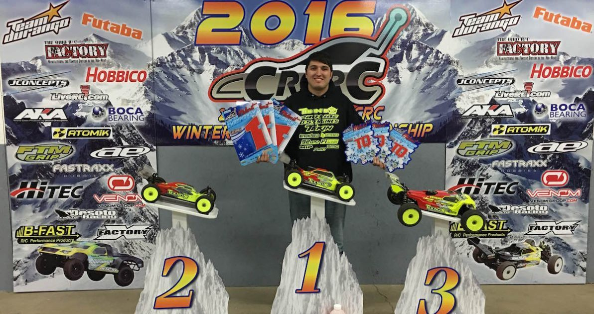 Tekno RC's Joe Bornhorst Sweeps CRCRC 1/8th Scale Winter Midwest Champs!