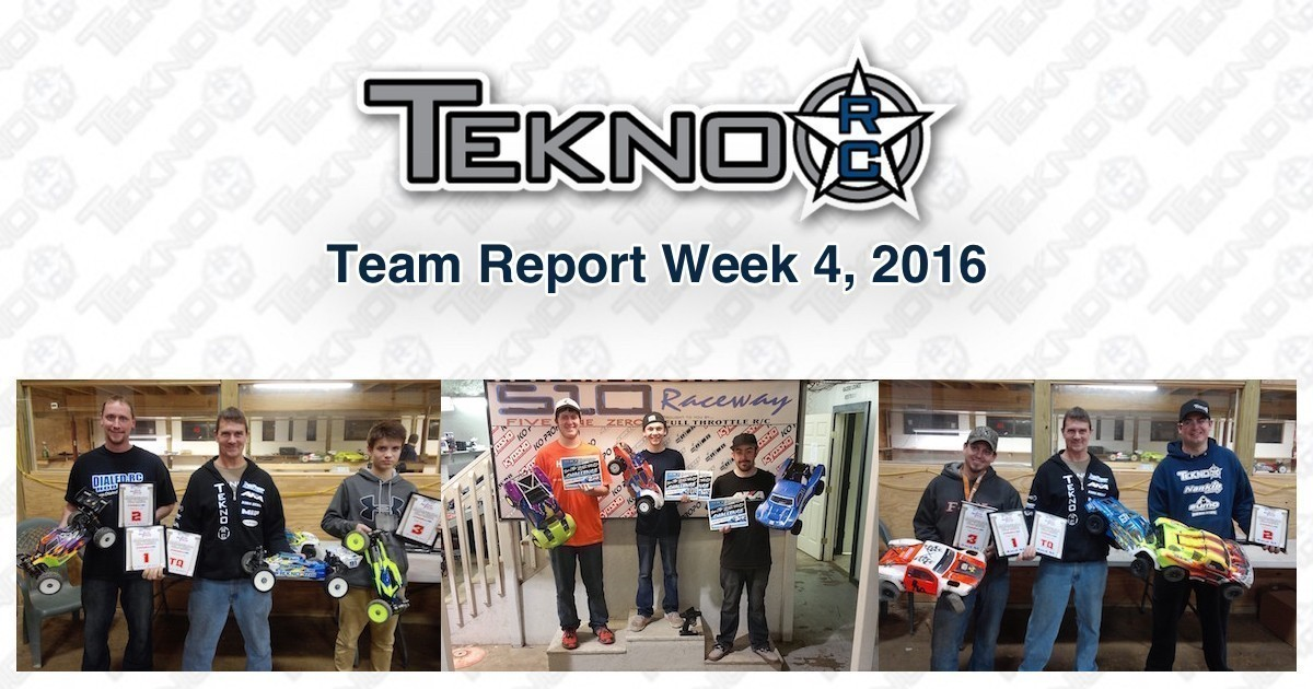 Tekno RC Team Report Week 4 2016