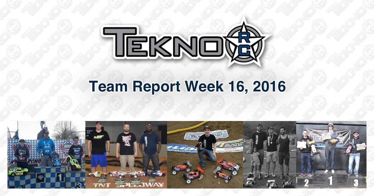 Tekno RC Team Report Week 16 2016