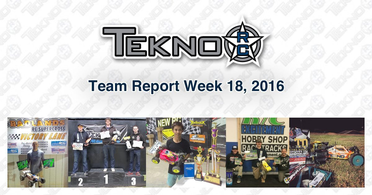 Tekno RC Team Report Week 18 2016
