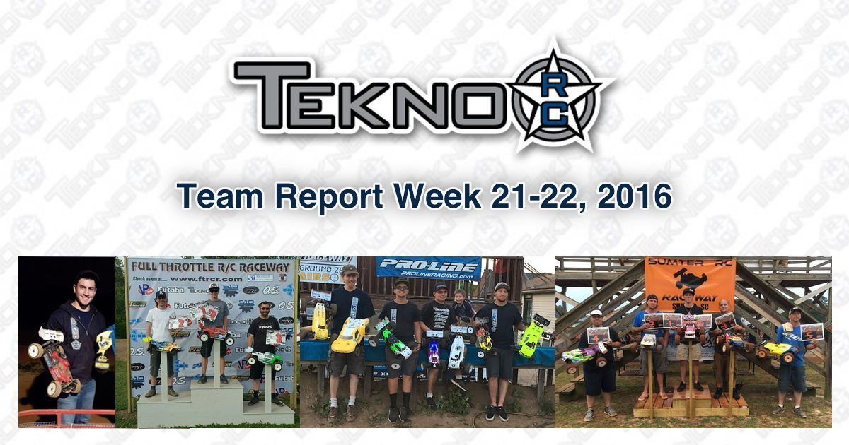 Tekno RC Team Report Week 21-22 2016