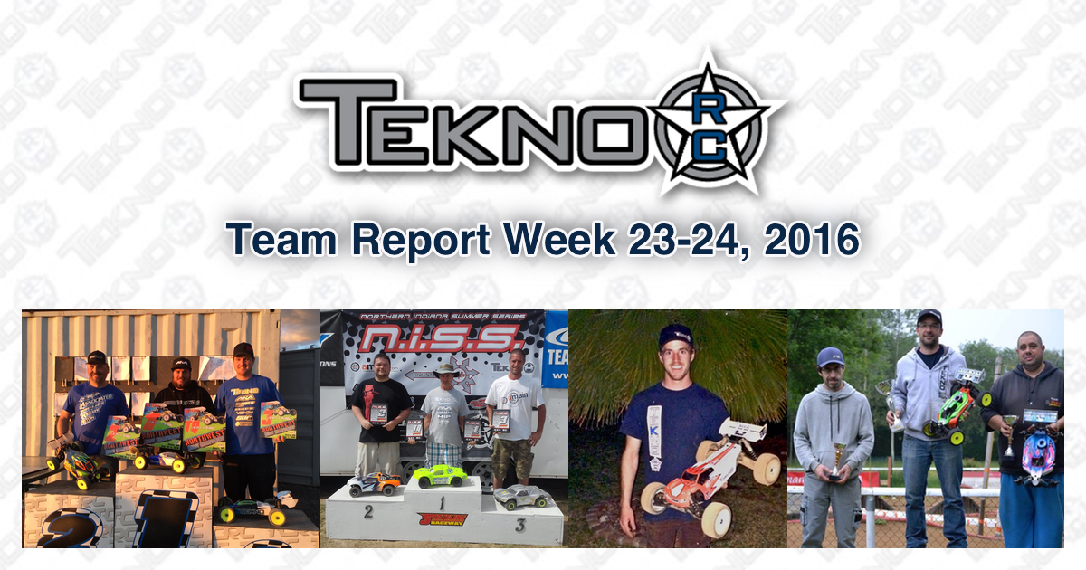 Tekno RC Team Report Week 23-24 2016
