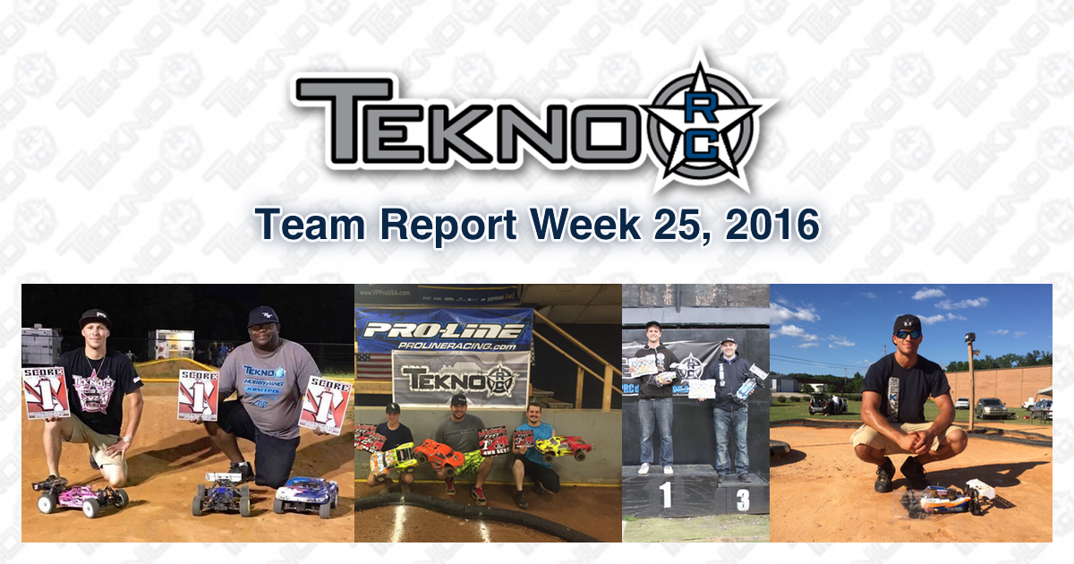 Tekno RC Team Report Week 25 2016