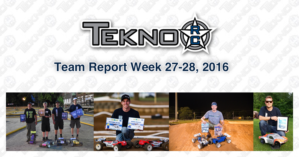 Tekno RC Team Report Week 27-28 2016