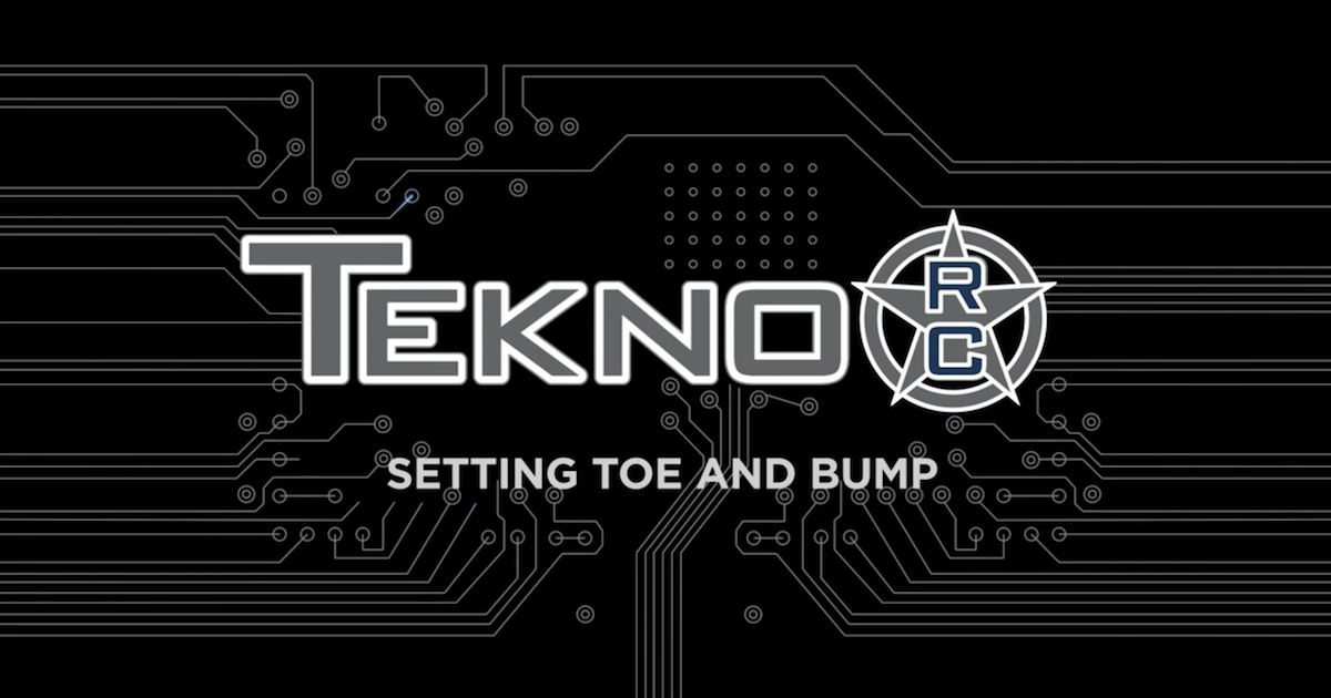 Tekno RC How To Videos: Setting Toe and Bump
