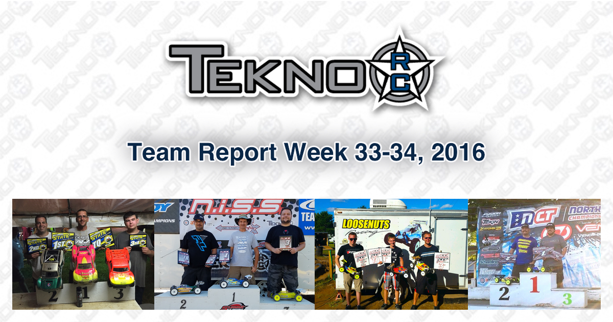 Tekno RC Team Report Week 33-34 2016