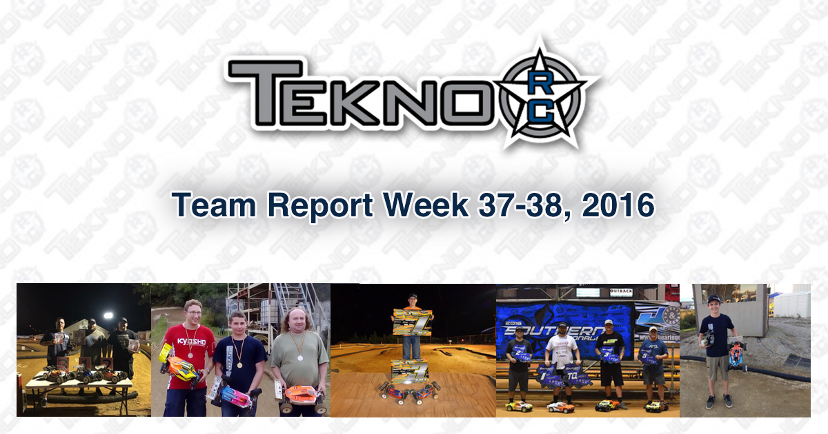 Tekno RC Team Report Week 37-38 2016