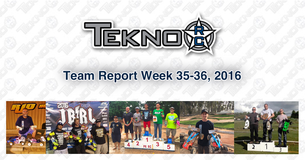 Tekno RC Team Report Week 35-36 2016