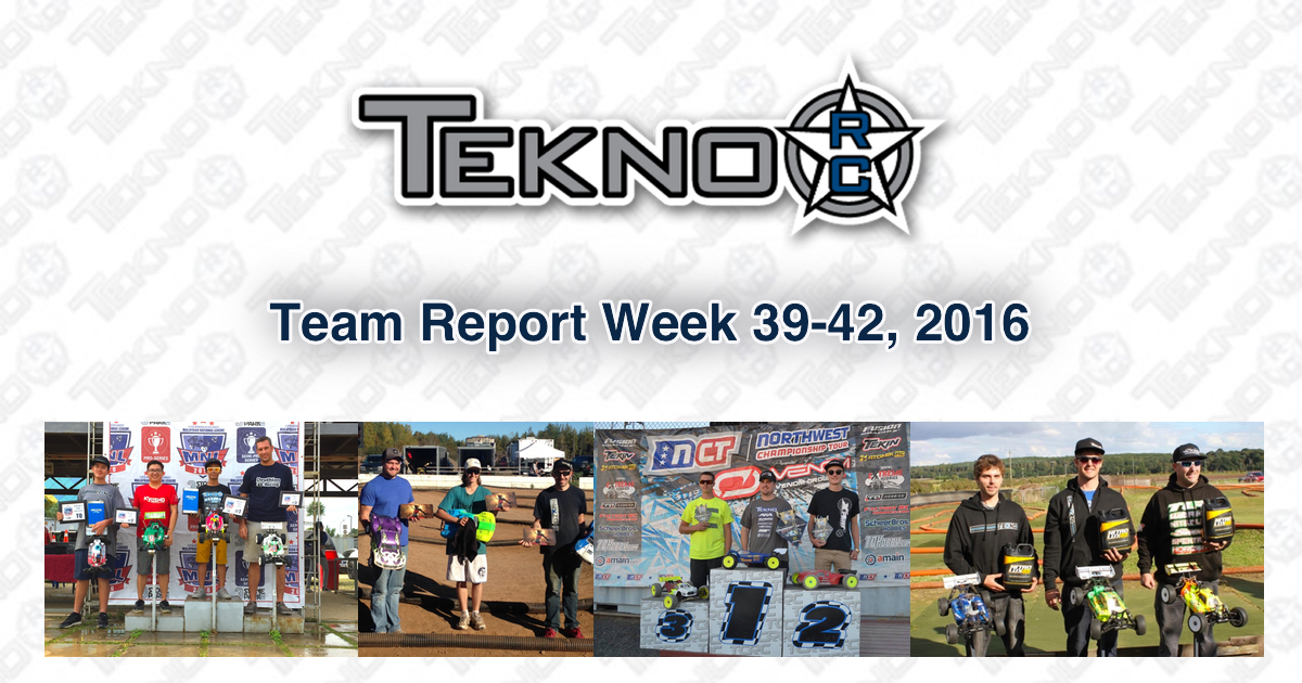 Tekno RC Team Report Week 39-42 2016