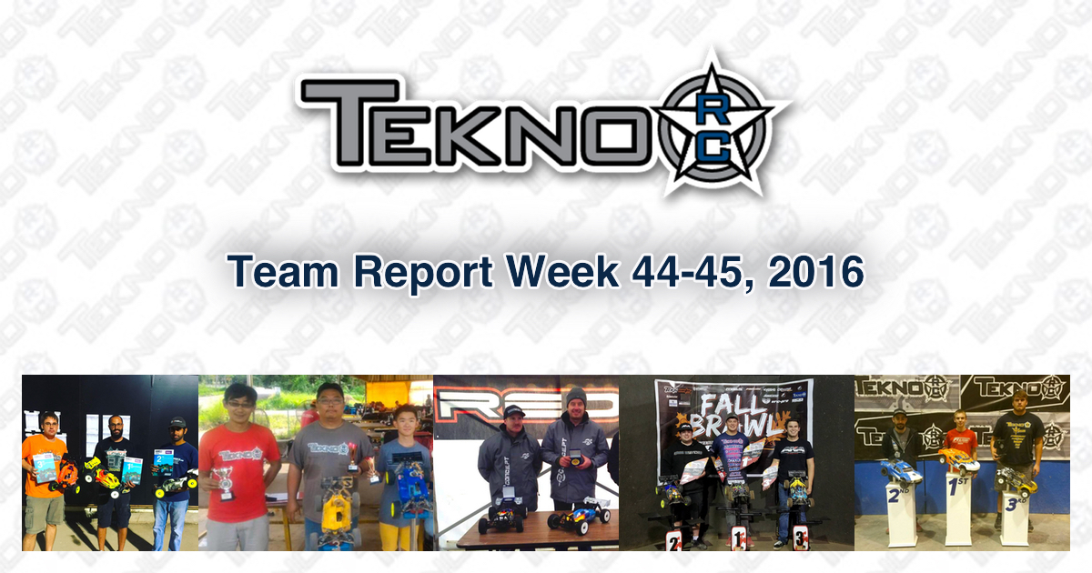 Tekno RC Team Report Week 44-45 2016