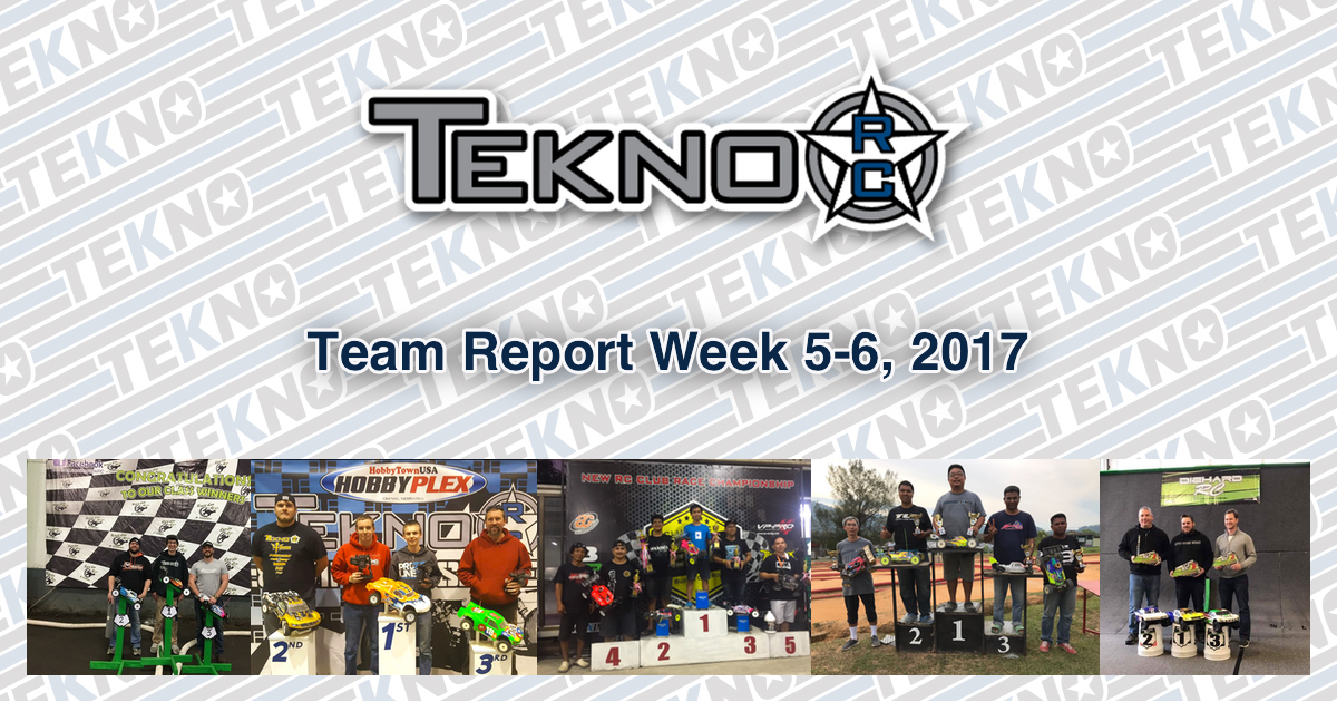 Tekno RC Team Report Week 5-6, 2017