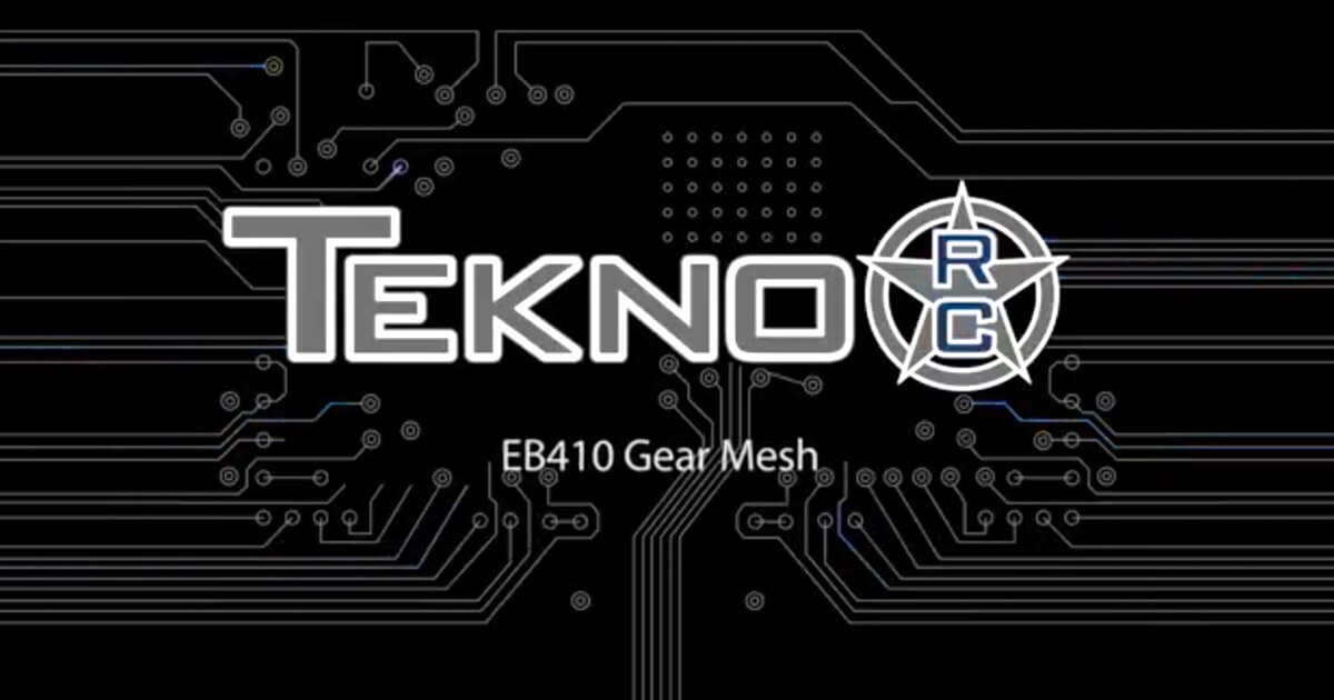 Tekno RC How-To Videos: EB410 Gear Mesh
