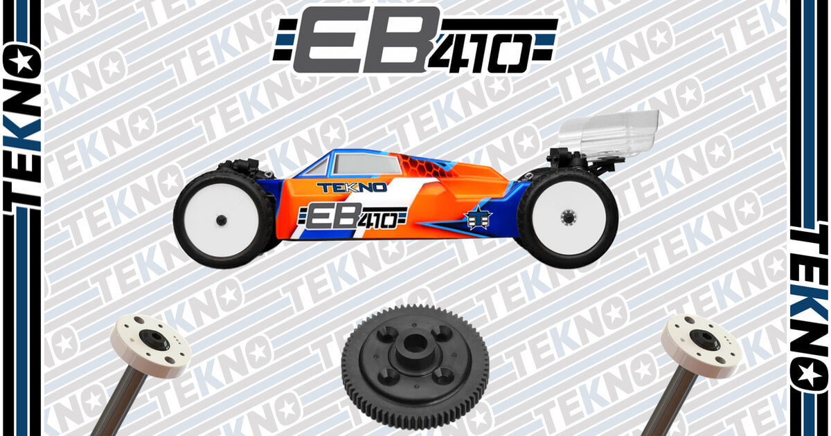 Tekno EB410 Kits, Option Pistons and 70T Spur Gear Now Available!