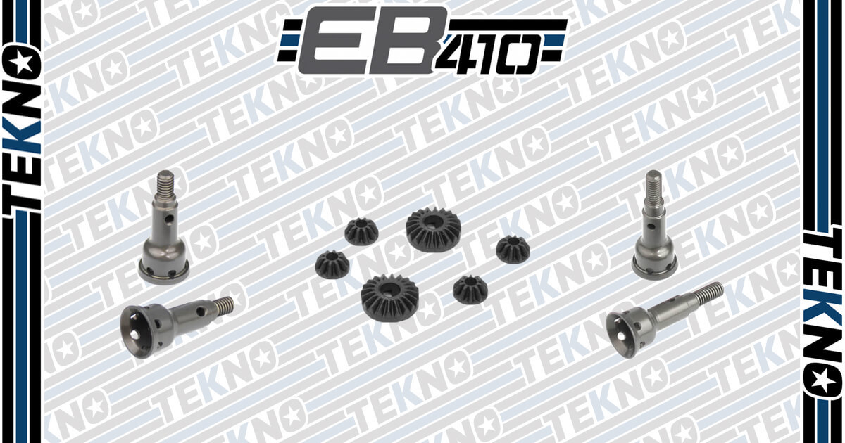 EB410 Aluminum Stub Axles and Composite Diff Gear Set Now Available!
