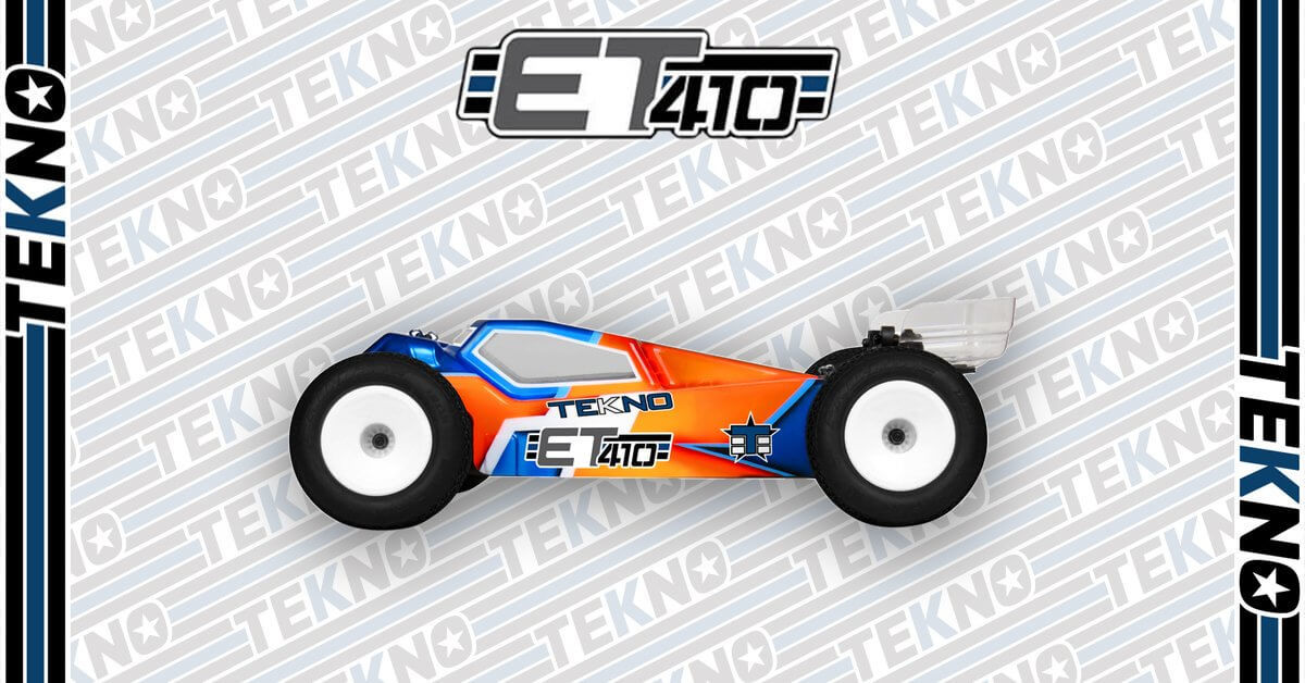 New ET410 1/10th 4WD Competition Electric Truggy Kit From Tekno RC!