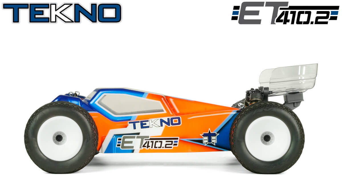 New ET410.2 1/10th 4WD Competition Electric Truggy Kit From Tekno RC!